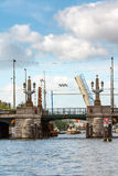 Bridge on Amsterdam Canal Royalty Free Stock Photography