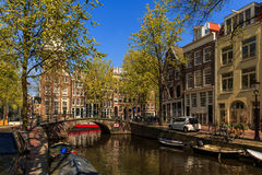 Bridge of Amsterdam. Historical bridge over the canal in Amsterdam Royalty Free Stock Photography