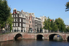 Bridge in Amsterdam, Holland Stock Photos