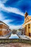 Bridge and ancient hospital in Comacchio, the little Venice Royalty Free Stock Photography