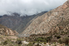 Bridge in Andes Mountains Stock Photography