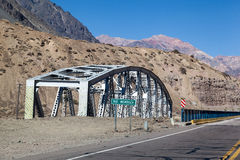 Bridge in Andes Mountains Royalty Free Stock Image