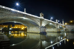 Bridge of angels at Castel Santangelo in Rome, Italy Stock Photography