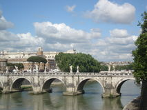 Bridge of Angels in Rome, Italy Royalty Free Stock Photos