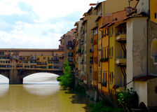 Ponte Vecchio Bridge Florence Italy Stock Photo