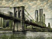 Bridge Apocolypse. Brooklyn bridge way in the future stock images