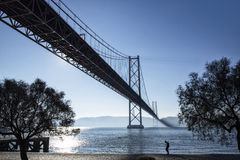 Bridge April 25 Lisbon Royalty Free Stock Images