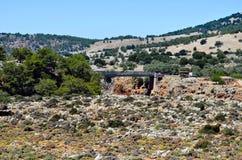 Bridge of Aradena gorge Royalty Free Stock Photography