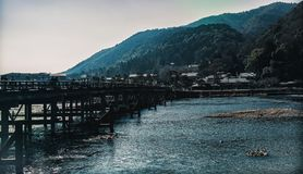 The Bridge in Arashiyama. royalty free stock image