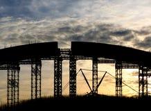 Bridge arc  construction Stock Images