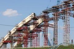 Bridge arc construction site Royalty Free Stock Image