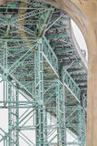 Bridge and arc steel construction Stock Photography