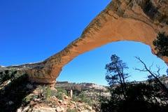 Owachomo bridge or arch in Natural Bridges National Monument, USA. Bridge or arch in Natural Bridges National Monument, Utah, USA Royalty Free Stock Images