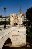 Bridge and Arch of Santa Maria, Burgos. Spain Stock Photography