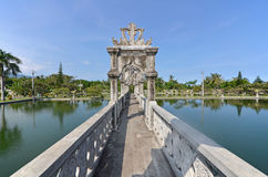 Bridge Arch Walkway in Taman Ujung Water Palace. Bridge Arch Walkway in Tirtagangga Taman Ujung Water Palace - Bali Indonesia Stock Photos