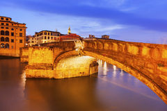 Bridge on Arno River Royalty Free Stock Photography