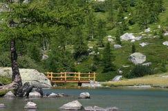 Bridge in Arpy Lake Royalty Free Stock Photo
