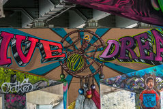 Bridge Art Graffiti Stock Photography