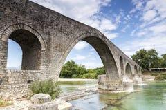The Bridge of Arta is an old stone bridge that crosses the Arach Royalty Free Stock Image