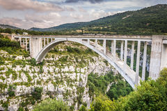 The bridge of the Artuby River, Verdon Gorge, France Royalty Free Stock Photography