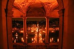 Bridge as seen from a castle Stock Photos