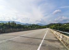 Bridge asphalt road. In mountain hill Stock Image