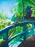 Bridge At Giverny Water Lily Pond Royalty Free Stock Photos
