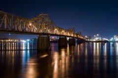 Bridge At Night Louisville Kentucky Stock Photos