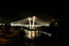 Free Bridge At Night Of Lleida, Spain Royalty Free Stock Photography - 55337857