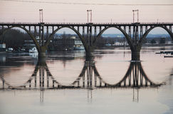 Bridge At Sunset Royalty Free Stock Images
