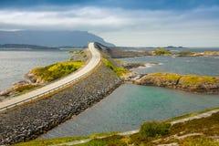 Bridge Atlanterhavsvegen With An Amazing View Over The Norwegian Mountains, Atlantic Road, Norway Stock Images