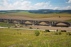 Bridge of autostrada in the landscape Stock Photo