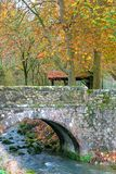 Bridge in Autumn Stock Photo
