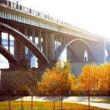 Bridge in Autumn Royalty Free Stock Images