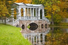 Bridge at autumn time Royalty Free Stock Images