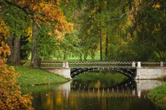 Bridge at autumn time Royalty Free Stock Photography