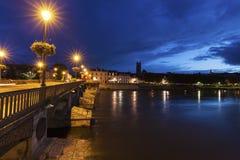Bridge in Auxerre Royalty Free Stock Image