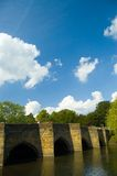 Bridge at bakewell. The old bridge over the river wye Stock Photos