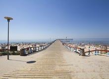 Bridge in baltic sea Royalty Free Stock Photo