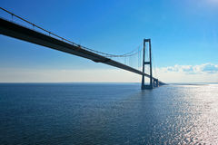 Bridge on Baltic sea Royalty Free Stock Image