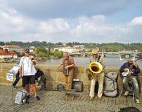 Bridge Band at Charles Bridge Royalty Free Stock Photos