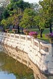 Bridge at Bang Pa-In Palace. Bang Pa-In Aisawan Thipya-Art (Divine Seat of Personal Freedom) at the Royal Summer Palace near Bangkok, Thailand Royalty Free Stock Photo
