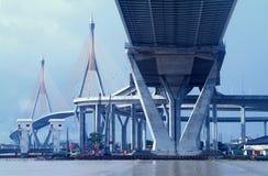 Bridge in Bangkok, Thailand stock images