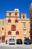 The Bridge Bar, Valletta. The Bridge bar building along Liesse with a red British telephone box to the left, Valletta, Malta, Europe Royalty Free Stock Photos