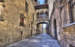 Bridge in Barcelona Royalty Free Stock Photos