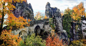 Bridge Bastei in Saxon Switzerland Germany Stock Photography
