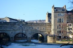 Bridge from Bath. And blue sky Royalty Free Stock Photos