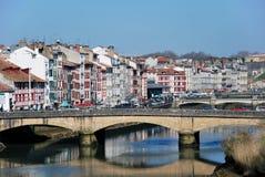 A bridge in Bayonne stock photography