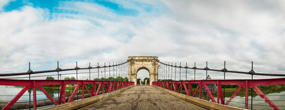 Bridge Between Beauregard and Villefranche, Beaujolais, France Royalty Free Stock Images