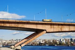 Bridge Belgrade Royalty Free Stock Images
